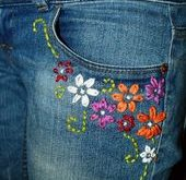 Upcycled bestickte Jeans