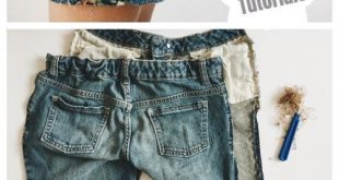 Refashion Hack - Verwandelte Jeans in DIY Cropped Jeans Shorts Tutorials - Boho .....