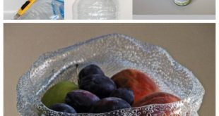 Upcycle: Plastikflasche in Art Bowl